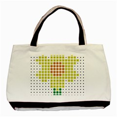 Colored Flowers Basic Tote Bag (Two Sides)