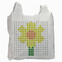 Colored Flowers Recycle Bag (Two Side)