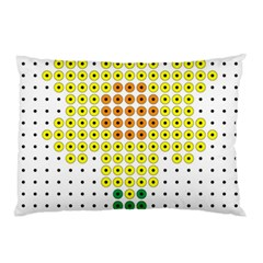 Colored Flowers Pillow Case (Two Sides)