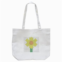 Colored Flowers Tote Bag (White)