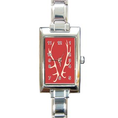 Deer Antlers Rectangle Italian Charm Watch