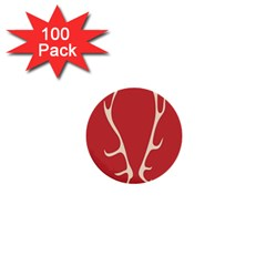Deer Antlers 1  Mini Buttons (100 Pack)
