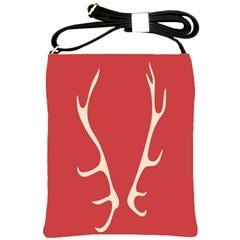 Deer Antlers Shoulder Sling Bags