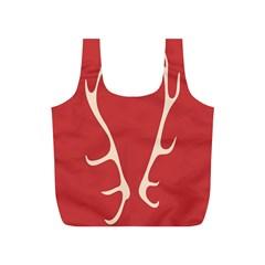 Deer Antlers Full Print Recycle Bags (S)