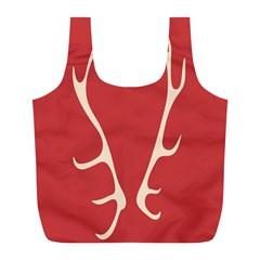 Deer Antlers Full Print Recycle Bags (L)