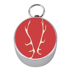 Deer Antlers Mini Silver Compasses