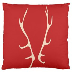 Deer Antlers Large Flano Cushion Case (One Side)