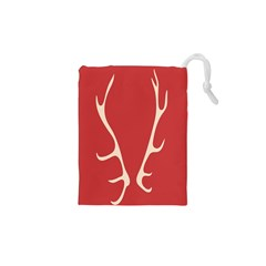Deer Antlers Drawstring Pouches (XS)
