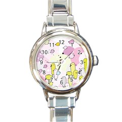Cut Bird Round Italian Charm Watch