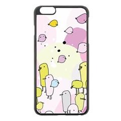 Cut Bird Apple iPhone 6 Plus/6S Plus Black Enamel Case