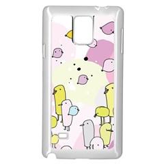 Cut Bird Samsung Galaxy Note 4 Case (White)