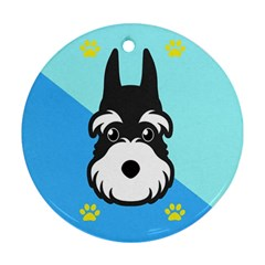Face Dog Ornament (Round)