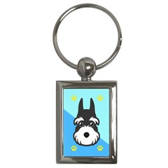 Face Dog Key Chains (Rectangle)