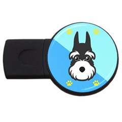 Face Dog USB Flash Drive Round (1 GB)