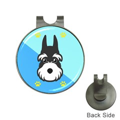 Face Dog Hat Clips with Golf Markers