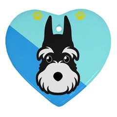 Face Dog Heart Ornament (2 Sides)