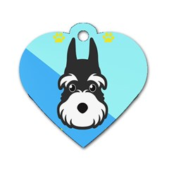 Face Dog Dog Tag Heart (Two Sides)