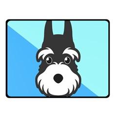Face Dog Fleece Blanket (Small)