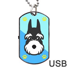 Face Dog Dog Tag USB Flash (Two Sides)