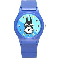 Face Dog Round Plastic Sport Watch (S)