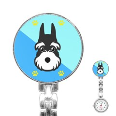 Face Dog Stainless Steel Nurses Watch