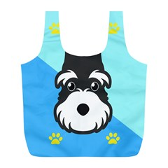 Face Dog Full Print Recycle Bags (L)