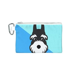 Face Dog Canvas Cosmetic Bag (S)