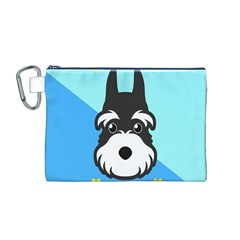 Face Dog Canvas Cosmetic Bag (M)