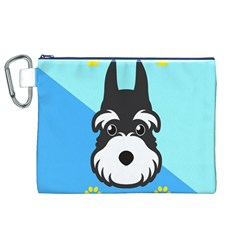 Face Dog Canvas Cosmetic Bag (XL)