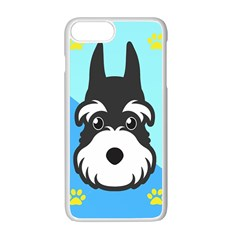 Face Dog Apple iPhone 7 Plus White Seamless Case