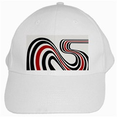 Curving, White Background White Cap