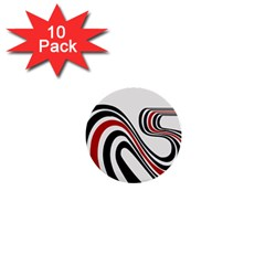 Curving, White Background 1  Mini Buttons (10 pack)