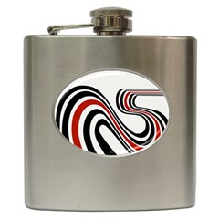 Curving, White Background Hip Flask (6 oz)