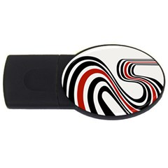 Curving, White Background USB Flash Drive Oval (1 GB)