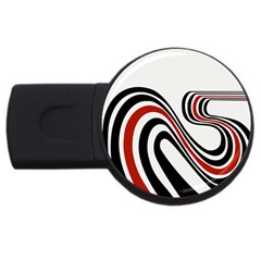 Curving, White Background USB Flash Drive Round (4 GB)