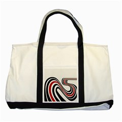 Curving, White Background Two Tone Tote Bag