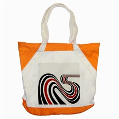 Curving, White Background Accent Tote Bag