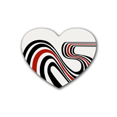 Curving, White Background Heart Coaster (4 pack)