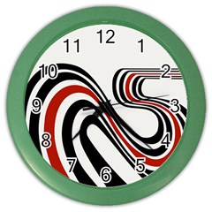 Curving, White Background Color Wall Clocks
