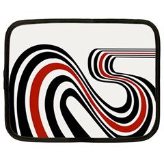 Curving, White Background Netbook Case (XL)