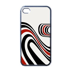 Curving, White Background Apple iPhone 4 Case (Black)