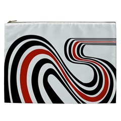 Curving, White Background Cosmetic Bag (XXL)