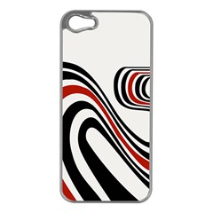 Curving, White Background Apple iPhone 5 Case (Silver)
