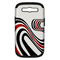Curving, White Background Samsung Galaxy S III Hardshell Case (PC+Silicone)