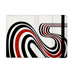 Curving, White Background Apple iPad Mini Flip Case