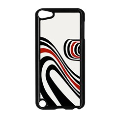 Curving, White Background Apple iPod Touch 5 Case (Black)