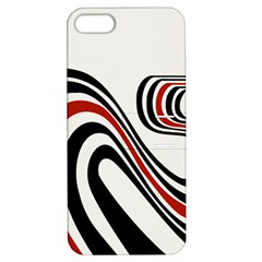Curving, White Background Apple iPhone 5 Hardshell Case with Stand