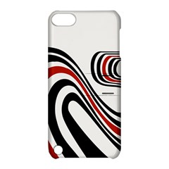 Curving, White Background Apple iPod Touch 5 Hardshell Case with Stand