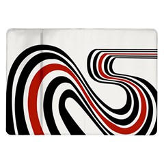 Curving, White Background Samsung Galaxy Tab 10.1  P7500 Flip Case