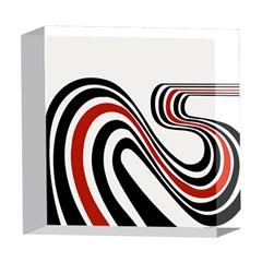 Curving, White Background 5  x 5  Acrylic Photo Blocks